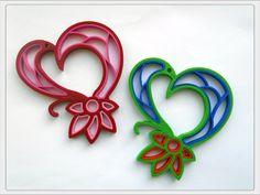 "Corazón enrollado o ""Quilling"", diseñados en 3D - ThingsCreators.com"