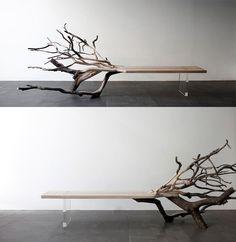 Fallen Tree Bench by Benjamin Graindorge
