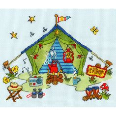 Bothy Threads Sew Dinky Tent Counted Cross Stitch Kit  $17.44
