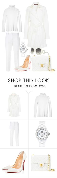 """""""Outfit #467"""" by sofi6277 on Polyvore featuring moda, Comptoir Des Cotonniers, Les Copains, Dolce&Gabbana, Chanel, Christian Louboutin y Prada"""