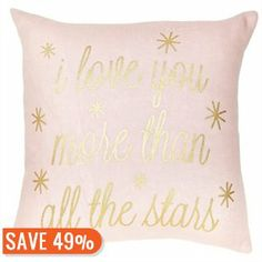 Expressions Pillow – Love You More Pillow by Indigo   Decorative Pillows Gifts   chapters.indigo.ca
