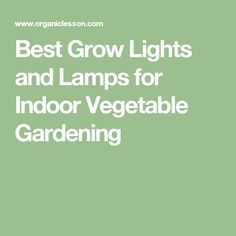Best Grow Lights and Lamps for Indoor Vegetable Gardening