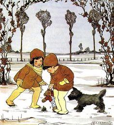 """Het Jaar Rond"" by Rie Cramer; illustration  ""Februari Sprokkelmaand"""