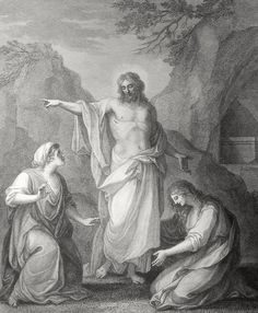 Phillip Medhurst presents Matthew's Gospel: Bowyer Bible print 4160 The resurrected Christ Matthew 28:9-10 Westall on Flickr. A print from the Bowyer Bible, an extra-illustrated copy of Macklin's...