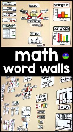 High school math word wall ideas high school algebra algebra do you have a math word wall in your classroom here you will find word fandeluxe Image collections