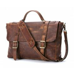 The Frye Company Logan Flap Brief Case in Tan Cognac Leather. Let this bag do the talking for you...classic style!