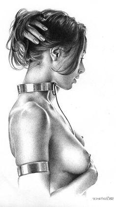 Boris Vallejo Erotic Nude Pinup Girl Print Poster Fairy Mystical Fantasy The Collar Bondage Chain Boris Vallejo, Female Portrait, Female Art, Julie Bell, Exotic Art, Girl Sketch, Collar And Leash, Collars, Fantasy Artwork