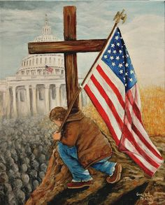 """""""If My People.."""" painting I did to remind us all...we need to be taking a """"Knee"""" the right way, not in protest...but Prayer! cbaten"""