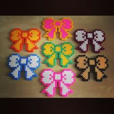 Bows perler fuse beads by sophieshamabeads