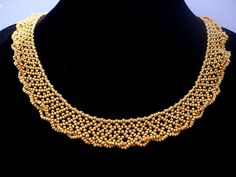 Gold color statement necklace, gold beadwork necklace, flower girls gift, bridesmaid gift, mother of the bride gift Bridesmaid Jewelry, Bridesmaid Gifts, Flower Girl Gifts, Flower Girls, Ring Necklace, Pearl Necklace, Gold Jewelry, Jewellery, Bride Gifts