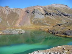 Ice Lakes, hiking trail near Silverton and Ouray, Colorado.