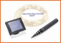 Solar Lichtschlauch  50 LEDs Lichterschlauch warmweiss 7m lang 102159