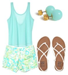 """"" by katelyn-wheeler on Polyvore featuring Lilly Pulitzer and Billabong"