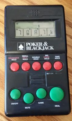 Poker & Black Jack 2 in1 Electronic Casino GAME 1994 Diversified Specialists  #DiversifiedSpecialists