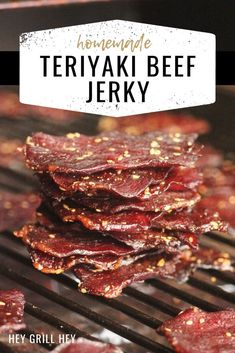 Teriyaki Beef Jerky is a staple snack in our pantry. Tender beef strips marinated in a sweet and tangy homemade teriyaki sauce are perfect for road trips, camping, and snacking. I prefer my jerky smoked, but I've included variations for using your oven or dehydrator as well.