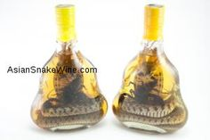 2 BOTTLES: BIGGEST SNAKE WINE BOTTLES AVAILABLE, ORDER 2 SCORPION WINE BOTTLES FROM VIETNAM, FAST SHIPPING TO USA, CANADA, AND EUROPEAN COUNTRIES $119.00