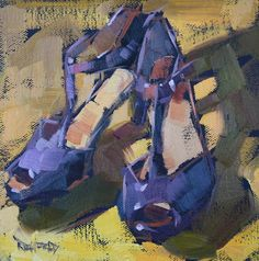 Daily Paintworks - The Cathleen Rehfeld Gallery of Original Fine Art Painting Still Life, Still Life Art, Small Paintings, Paintings I Love, Original Paintings, Illustrations, Illustration Art, Shoe Art, Art Shoes
