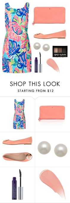 """""""Formal dinner today👌🏻"""" by elizabeth-preppy ❤ liked on Polyvore featuring Lilly Pulitzer, Kate Spade, Tory Burch, Honora, Urban Decay, Burberry and NYX"""