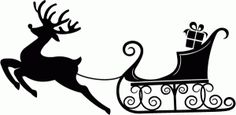 Reindeer & Sleigh from Tis the Season Collection by Echo Park Paper Co. Noel Christmas, Christmas Clipart, Xmas, Christmas Stencils, Christmas Projects, Silhouette Cameo Projects, Silhouette Design, Polo Norte, Reindeer And Sleigh