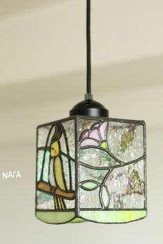 Stained Glass Bird Lamp
