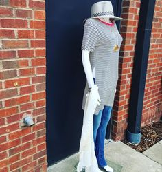 Happy Saturday!!! Stop by and see us! So many. New sale items like this gorgeous slit side stripe tunic from cherish now $21.20 also available on sale online!! Open until 4pm both locations!! #shoplocal #shopsmall #germantown #nashville #martinsville #stripes #shopsale #saturdayshopping by piecesfashion