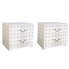 Pair of Studded Bedside Dressers by Tommi Parzinger, New York, Circa 1950s…