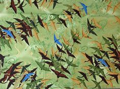 Oriental Traditions  cranes and birds   Robert by TheKittyQuilter