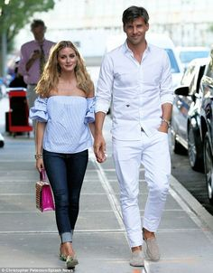 Olivia Palermo in New York with Johannes Huebl