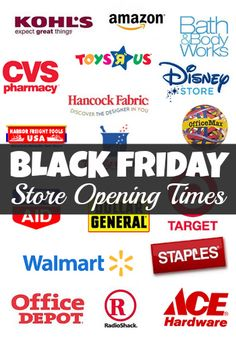 Love Black Friday!!!! Crazy I know!!! Lol Find all of the store opening times for Black Friday 2013!!