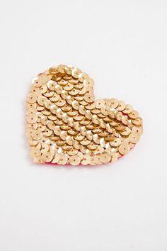 DIY: sequin heart.