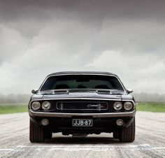 Nasty 1970 Dodge Challenger R/T in black.