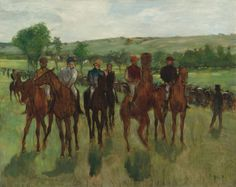 """By the time Edgar Degas painted """"The Riders"""" around 1885, depictions of horses at work were common. Natl Gallery of Art (@ngadc) 