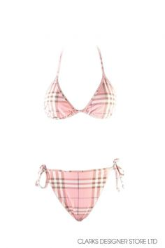 bbca346de3bb8 Designer Burberry Style Bikini set Description Burberry tie up bikini in  pink nova check Colour Pink   White Material Nylon Country of Manufacture  United ...
