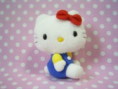 """HELLO KITTY Small Plush Stuffed Doll Bag Charm Sanrio JAPAN 2001 Vintage NEW! :  *Condition* Unused  Released in 2001. This was NOT for sale in stores!  *Size*  About  3.3"""" (8.5cm) in sit  24.99-32.99 (4.50/4.90/5.50)"""