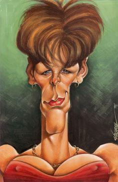 Jamie Lee Curtis Caricature  ~ Ʀεƥɪииεð вƴ╭•⊰✿ © Ʀσxʌиʌ Ƭʌиʌ ✿⊱•╮
