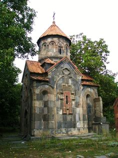 """Little Church"" is located within the village of Garni in the Kotayk Province of Armenia. Built in the century at the site of what was a pagan shrine. Church Architecture, Amazing Architecture, Armenian Culture, Houses Of The Holy, Georgia, Cathedral Church, Old Churches, Church Building, Chapelle"
