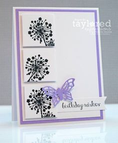 Graphic Flowers Card by stampcatwg - Cards and Paper Crafts at Splitcoaststampers