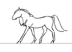 draw horse hoof walking - Google Search