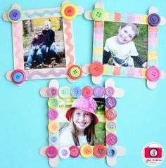 Spring art projects for kids preschool families 29 ideas - Easy Crafts for All Popsicle Stick Picture Frame, Picture Frame Crafts, Picture Frames, Spring Art Projects, Projects For Kids, Craft Projects, Mothers Day Crafts For Kids, Fathers Day Crafts, Popsicle Stick Crafts