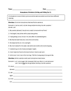 Worksheets Beasley And Homophones worksheets and english on pinterest choosing writing homophones worksheet