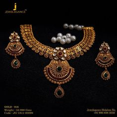 Jewelry OFF! Gold 916 Premium Design Get in touch with us on 919904443030 Real Gold Jewelry, Gold Jewellery Design, Fancy Jewellery, Bridal Jewellery, Trendy Jewelry, Indian Wedding Jewelry, Indian Bridal, Indian Jewelry, Jewelry Patterns