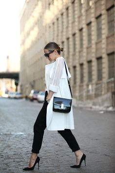 DKNY Mesh Sleeve Trench