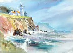 Afbeeldingsresultaat voor lighthouse watercolor painting