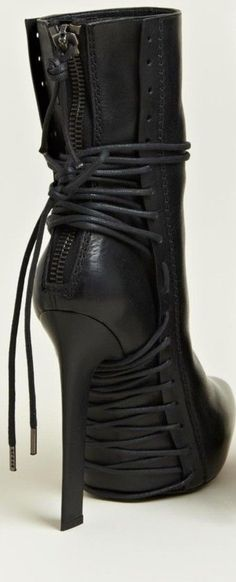 Haider Ackermann lace up boots Hot Shoes, Crazy Shoes, Me Too Shoes, Shoes Heels, Heeled Boots, Bootie Boots, Ankle Boots, Stiletto Boots, Over Boots