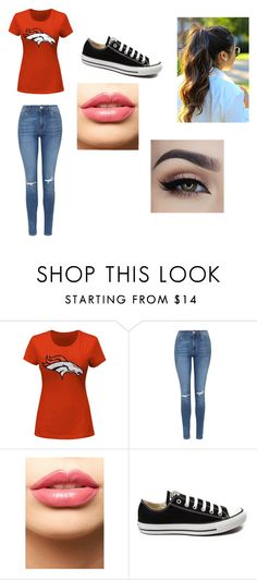 """""""Game Day #2"""" by fashionista-dxliv on Polyvore featuring Majestic, Topshop, LASplash, Converse, women's clothing, women, female, woman, misses and juniors"""