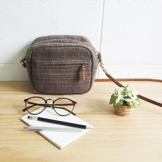 Crossbody Bags Little Tan Mini Bags Hand Woven and Botanical Dyed Cotton-www.tanbagshop.com