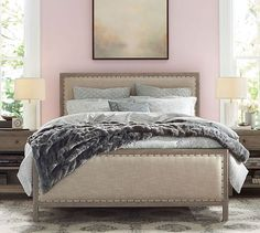 """Toulouse Wood Bed   Pottery Barn Queen      Overall: 64.25"""" wide x 84.25"""" long x 54"""" high"""