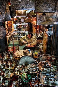 Store at Bascarsi Bazaar, Sarajevo's old bazaar and the historical and cultural center of the city.
