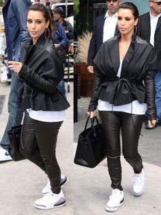 sports shoes a5bc4 dfe1e Kim-Kardashian-wearing-Air-Jordan-Retro-3-Sneakers Cheap