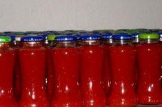 Příprava receptu Domácí rajčatový protlak, krok 1 Beverages, Drinks, Coca Cola, Homemade, Canning, Tableware, Food, Drinking, Essen